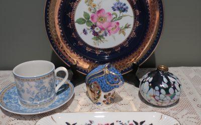 Sneak Peek for the week – Royal Crown Derby, art glass, Royal Doulton, Royal Worcester