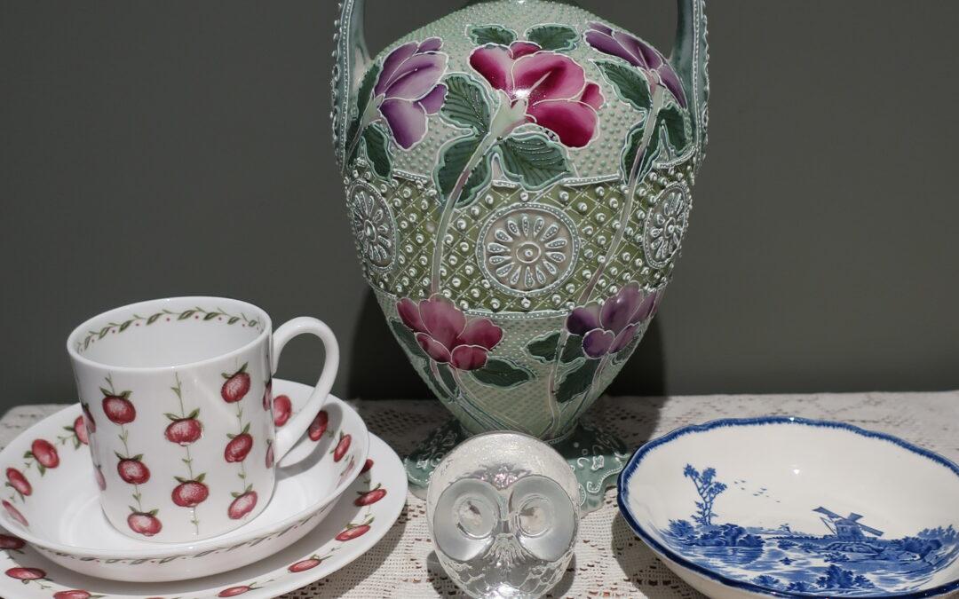 Sneak Peek For The Week – Antique Japanese, Mats Jonasson, Royal Doulton, Rodd Silver, Susie Cooper