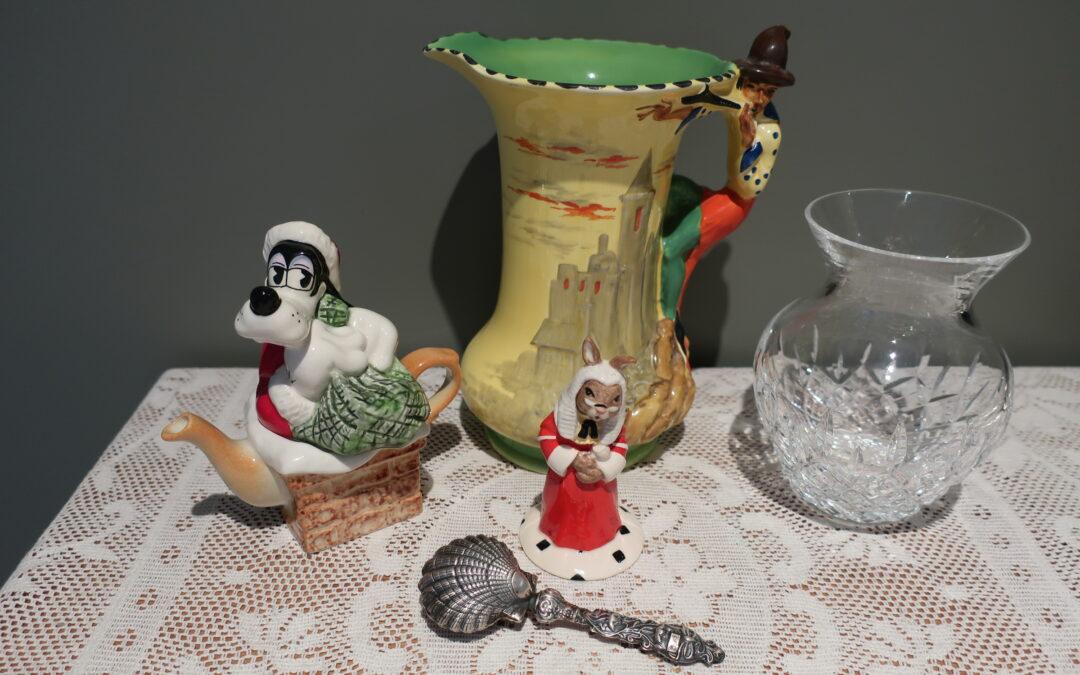 Sneak Peek For The Week – Burleigh Pied Piper, Stuart Crystal, Sterling Silver, Royal Doulton Bunnykins, Paul Cardew Mini Xmas Teapot
