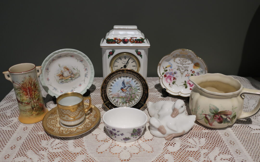 Sneak Peek For The Week – St George China, Nao, Limoges, Royal Crown Derby, Royal Albert, Portmeirion, Royal Doulton and Dresden