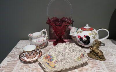Sneak Peek For The Week – Fenton, Royal Crown Derby, Empire Crinoline Lady, Geisha Teapot, Brass Horse Figurine