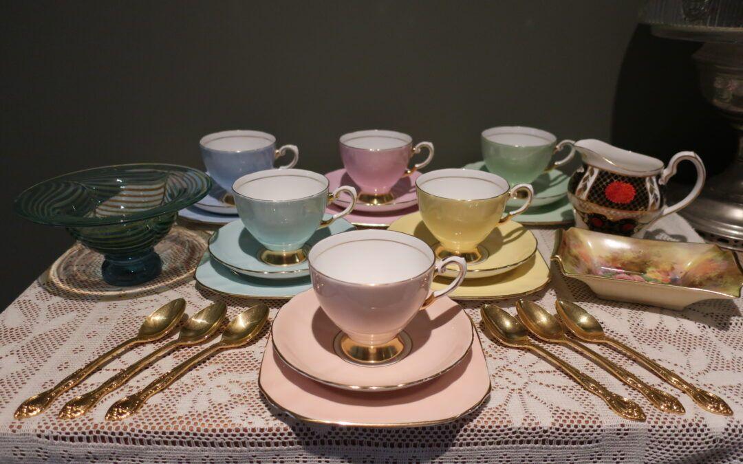 Sneak Peek For The Week – Abbeydale Imari China, Stuart Fletcher Glass, Tuscan Harlequin Trio's, Royal Winton Hand Painted China, Rodd Golden Glory Teaspoons