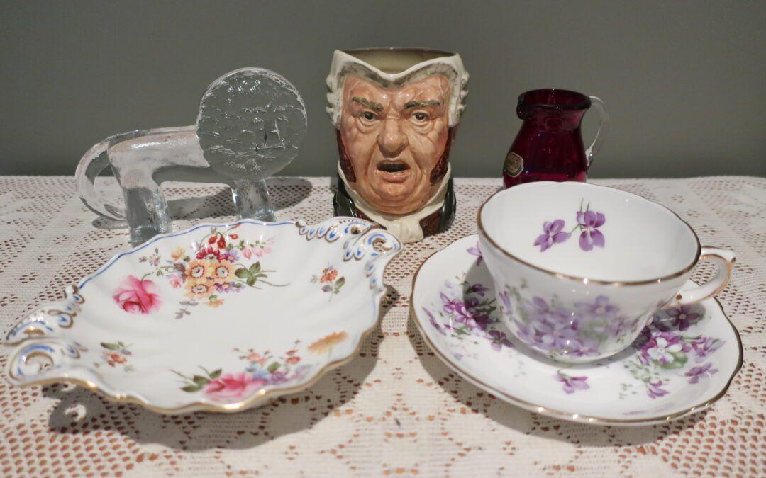 Sneak Peek For The Week – Royal Crown Derby, Royal Doulton, Bohemian Ruby Glass, Kosta Boda Glass, Hammersley Victorian Violets