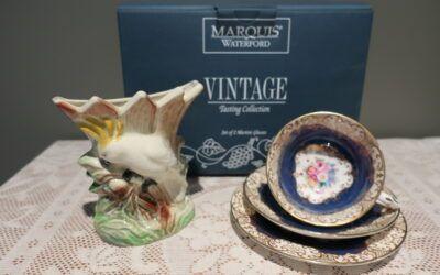 Sneak Peek For The Week – Waterford Crystal, Wembley Australia Pottery, Crown Staffordshire Bone China