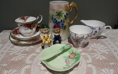 Sneak Peek For The Week – Carltonware, Wedgwood, Royal Albert, Antique Belleek, Marie Gardner Pottery